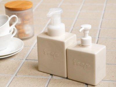 画像3: 【Bolck】フォームボトル/ムースボトル/ディスペンサー/ブロック/スクエア/キューブ/泡ポンプ/陶器/日本製