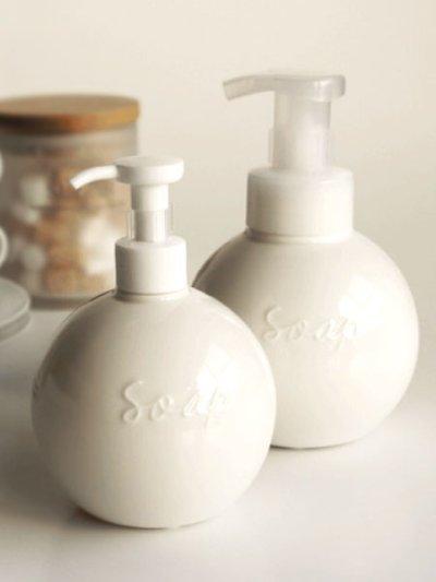 画像1: 【Orb】ソープボトル/ディスペンサー/オーブ/ラウンド/丸/陶器/日本製