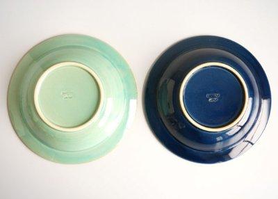 画像3: 【作山窯-SAKUZAN-】藍 パスタ皿/リムボウル/日本製/陶器