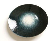画像1: 【作山窯-SAKUZAN-】-凛-平皿<大>/プレート/紺吹き/大皿/日本製/陶器 (1)