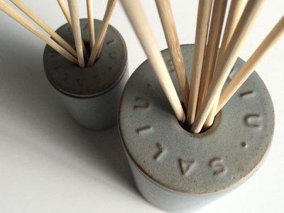 画像1: NEW【SALIU】インテリアスティックセット(S)/ブーケ/ディフューザー/陶器/日本製/ロロ