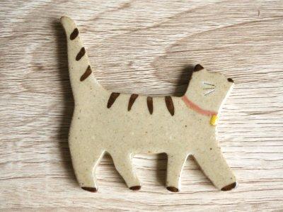 画像1: 【Chopstick rest】猫 箸置き/ねこ/白猫/黒猫/トラ猫/ネコ/キャット/レスト/陶器/日本製