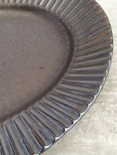 画像3: 【作山窯-SAKUZAN-】オーバル パスタ皿/グレイ/鉄黒//削ぎ/ソギ/黒土/リムボウル/日本製/陶器