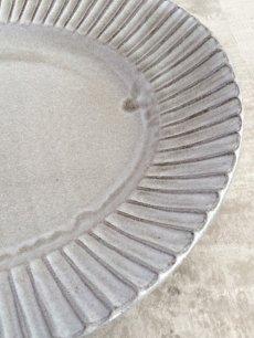 画像4: 【作山窯-SAKUZAN-】オーバル パスタ皿/グレイ/鉄黒//削ぎ/ソギ/黒土/リムボウル/日本製/陶器 (4)