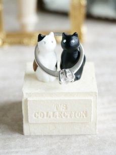 画像2: 【Neco】リングスタンド ダブル ネコc指輪置き/猫/ねこ/キャット/cat/ティーズコレクション T's COLLECTION (2)