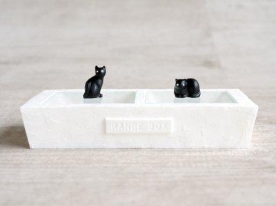 画像1: 【Neco】ネコ 2レンジボックス ブラック 小物入れ/ジュエリーボックス/指輪置き/猫/ねこ/キャット/cat/ティーズコレクション T's COLLECTION