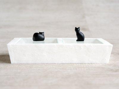 画像2: 【Neco】ネコ 2レンジボックス ブラック 小物入れ/ジュエリーボックス/指輪置き/猫/ねこ/キャット/cat/ティーズコレクション T's COLLECTION