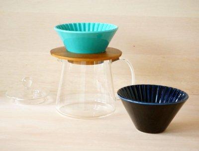 画像3: 【ORIGAMI】ドリッパー 丸 Dripper S /ターコイズ/ネイビー/陶器/磁器/日本製