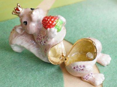 画像1: 【ピィアース】ピンククラウンリス / ジュエリーボックス/宝石箱/木の実