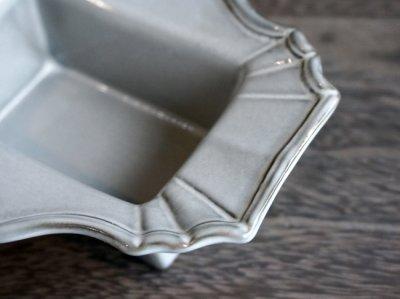 画像3: 【フラワー】Nathalie クラシックベース フレームベース スクエア L/正方形/アンティーク調/グレー陶器/灰色/Clay/クレイ/中国製