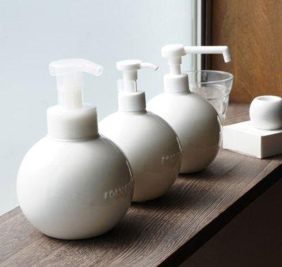 画像1: 【Globe】グローブ フォームボトル ムースボトル ディスペンサー 詰替え容器 ラウンド 丸 泡ポンプ 陶器 磁器 日本製 ロロ LOLO