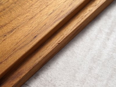 画像3: 【B STYLE KITCHEN】バターケース 450g/バターボックス/木葢/日本製/木製/チーク材/陶器/白磁/磁器/LOLO