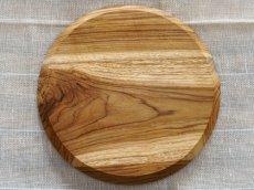 画像3: 【TEAK WOOD】デザインランチプレート ラウンド M 22cm/丸/トレー/プレート/トレイ/チーク材/木製/ウッド/天然木/インスタ (3)