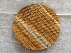画像2: 【TEAK WOOD】デザインランチプレート ラウンド M 22cm/丸/トレー/プレート/トレイ/チーク材/木製/ウッド/天然木/インスタ (2)