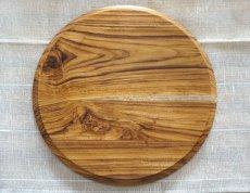 画像3: 【TEAK WOOD】デザインランチプレート ラウンド L 27cm/丸/トレー/プレート/トレイ/チーク材/木製/ウッド/天然木/インスタ (3)