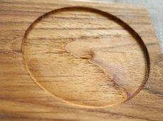 画像4: 【TEAK WOOD】ランチプレート ラウンド L 27cm カップホルダー有り  丸/トレー プレート トレイ チーク材 木製 ウッド 天然木 インスタ (4)