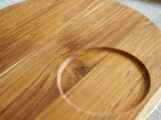 画像6: 【TEAK WOOD】ランチプレート ラウンド M 22cm/カップホルダー/丸/トレー/プレート/トレイ/チーク材/木製/ウッド/天然木/インスタ (6)
