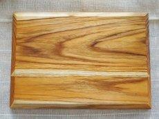 画像6: 【TEAK WOOD】デザインランチプレート スクエア L 30cm/四角/トレー/プレート/トレイ/チーク材/木製/ウッド/天然木/インスタ (6)