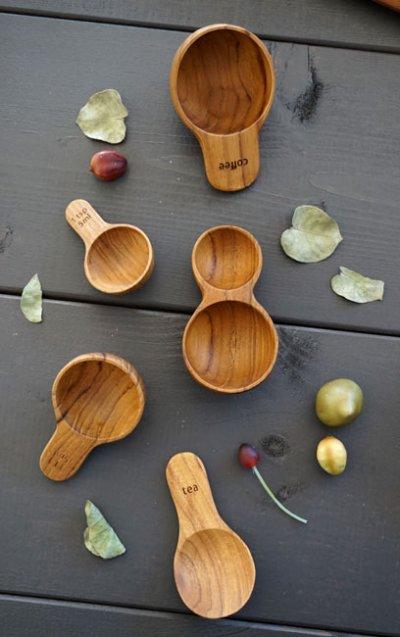 画像2: 【SALIU TEAK】コーヒースプーン/珈琲スプーン/木製/チーク材/チーク/タイ/サスティナブル