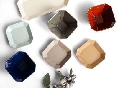 画像1: 【Des-pres】デ・プレ スクエアプレート S 12cm カラー 白土 /プレート/八角/四角/グレイ/クラシカル/取り皿/お皿/小皿/陶器/日本製