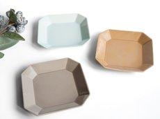 画像1: 【Des-pres】デ・プレ スクエアプレート S 12cm カラー 白土 /プレート/八角/四角/グレイ/クラシカル/取り皿/お皿/小皿/陶器/日本製 (1)