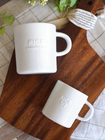 画像1: 【smart mini kitichen】おこめカップ 1/2カップ 半合/ライスカップ/お米/メジャーカップ/計量カップ/90ml/陶器/磁器/日本製