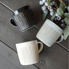 画像1: 【SALIU】マグ SA00 280ml/白/灰/黒/ホワイト/グレー/ブラック/マグカップ/コップ/サリュウ/削ぎ/陶器/日本製 (1)