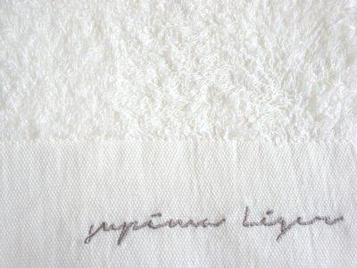 画像3: 【天衣無縫】オーガニックコットン スーピマレジェ バスタオル 文字入り 日本製