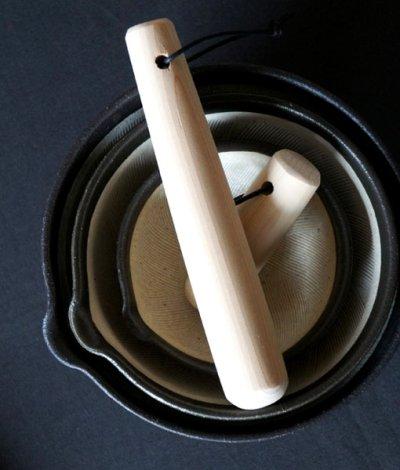 画像1: 【SHIKIKA】片口すり鉢 大 白/ホワイト/擂り鉢/すり潰す/美濃焼/陶器/日本製/LOLO