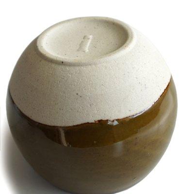 画像1: 【SHIKIKA】ころころ 大 焼酎カップ ハーフ スカイブルー・ブラウン/みず・茶色/カップ/コップ/湯のみ/コロコロカップ/陶器製/日本製 270ml
