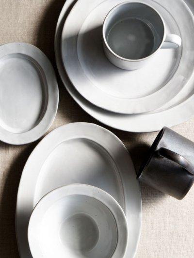 画像3: 【Saveur】サヴール オーバルプレート 16cm/楕円/小皿/取り皿/黒土/グレイ/カフェ/ロロ/日本製