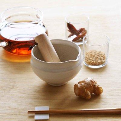 画像3: 【SHIKIKA】片口すり鉢 丸 白/擂り鉢/すり潰す/美濃焼/陶器/日本製/LOLO