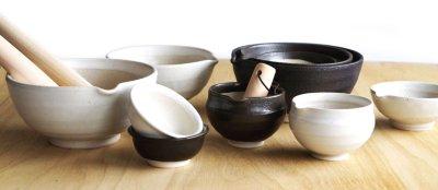 画像1: 【SHIKIKA】片口すり鉢 丸 白/擂り鉢/すり潰す/美濃焼/陶器/日本製/LOLO