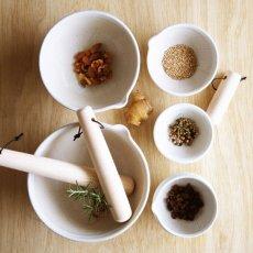 画像5: 【SHIKIKA】片口すり鉢 丸 白/擂り鉢/すり潰す/美濃焼/陶器/日本製/LOLO (5)