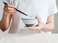画像4: 【SALIU】飯碗 SA01 大 黒 お茶碗 ごはん碗 夫婦茶碗 陶器 日本製 (4)