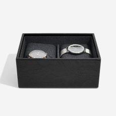 画像4: 【STACKERS】ミニ ジュエリーボックス2セット ブラック ウォッチ&カフスリンク Mini Black Mini Watch & Cufflink Box スタッカーズ ジュエリーケース 重ねる 重なる アクセサリーケース イギリス ロンドン ジュエリー アクセサリー ケース 収納 (4)