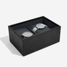 画像5: 【STACKERS】ミニ ジュエリーボックス2セット ブラック ウォッチ&カフスリンク Mini Black Mini Watch & Cufflink Box スタッカーズ ジュエリーケース 重ねる 重なる アクセサリーケース イギリス ロンドン ジュエリー アクセサリー ケース 収納 (5)