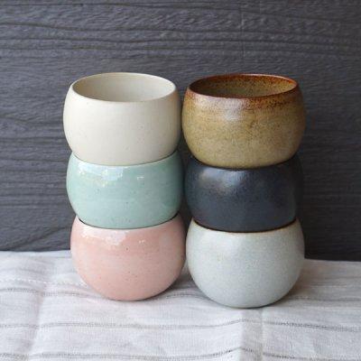 画像3: 【SHIKIKA】ころころ 小 煎茶カップ コップ 湯のみ コロコロカップ 陶器製 日本製 180ml