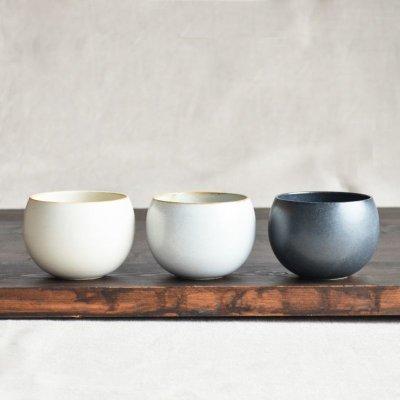 画像2: 【SHIKIKA】ころころ 小  煎茶カップ コップ 湯のみ 陶器製 日本製 180ml ロロ LOLO