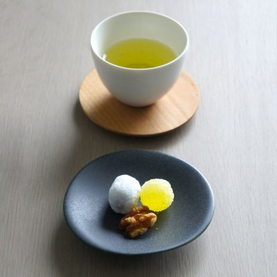 画像1: 【SALIU】TSUKECHI 茶敷 円 山桜 丸 茶托 小皿 木製 天然木 日本製 LOLO ロロ