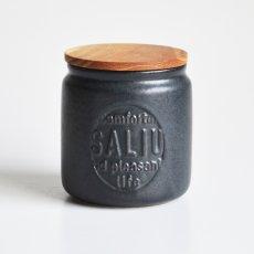 画像4: 【SALIU】キャニスター BS03   2個セット チーク材 ホワイト 白 ブラック 黒 サリュウ 木蓋 陶器 LOLO ロロ 美濃焼 日本製 (4)