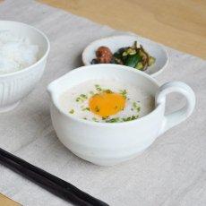 画像3: 【SHIKIKA】まぜ鉢 白唐津  白 納豆 卵 ホワイト ドレッシングボウル ミキシングボウル 美濃焼 陶器 日本製 LOLO ロロ (3)