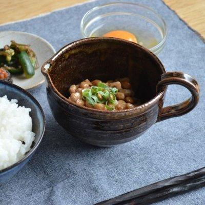 画像1: 【SHIKIKA】まぜ鉢 黒釉  黒 納豆 卵 ブラック ドレッシングボウル ミキシングボウル 美濃焼 陶器 日本製 LOLO ロロ