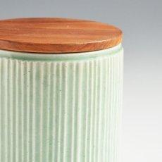 画像7: 【SALIU】キャニスター SA00 しのぎ チーク材  削ぎ 木蓋 陶器 LOLO ロロ 美濃焼 日本製 (7)