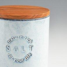 画像4: 【SALIU】キャニスター SA01 チーク材 ホワイト 白 ブルー 青 ブラック 黒 サリュウ 木蓋 陶器 ロロ LOLO 美濃焼 日本製 (4)