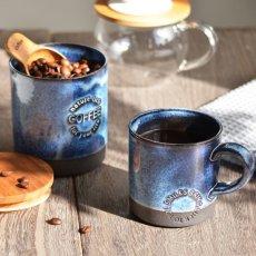 画像2: 【SALIU】キャニスター SA01 チーク材 ホワイト 白 ブルー 青 ブラック 黒 サリュウ 木蓋 陶器 ロロ LOLO 美濃焼 日本製 (2)