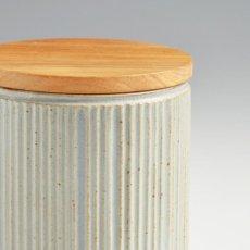 画像5: 【SALIU】キャニスター SA00 しのぎ チーク材  削ぎ 木蓋 陶器 LOLO ロロ 美濃焼 日本製 (5)