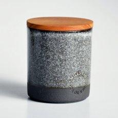 画像6: 【SALIU】キャニスター SA01 チーク材 ホワイト 白 ブルー 青 ブラック 黒 サリュウ 木蓋 陶器 ロロ LOLO 美濃焼 日本製 (6)