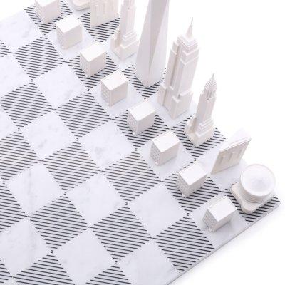 画像1: 【Skyline Chess 】ニューヨークシティエディション チェスセット 大理石ボード /木製ボード marble  チェス  スカイラインチェス THE NEW YORK CITY EDITION トイ オブジェ インテリア お洒落 おしゃれ かっこいい モダン ギフト