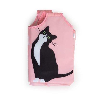 画像3: 【Abeille】Shopping Basket Bag ピンク ハチワレ /猫/黒/クロ猫/クロネコ/エコバッグ/ショッピングバッグ/買い物バッグ/ショッピングバッグ/キャット/cat/猫好き/
